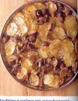 Aardappel-champignonschotel