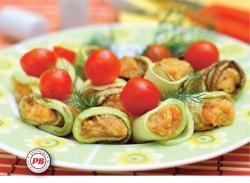 Courgettes gevuld met selderij en tomaat