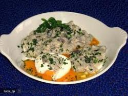Champignons met zachte eieren