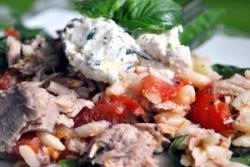 Rison frisse salade van tonijn en ricotta