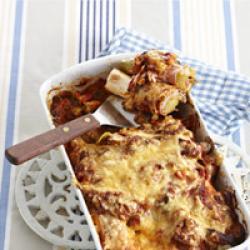 Prei met ham kaas  uit de oven