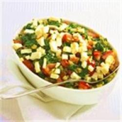 Spinazieschotel met tomaat en feta