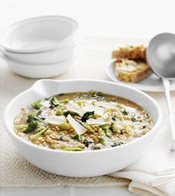 Broccoli soep met pasta