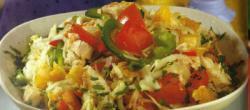 Groente salade met kipfilet