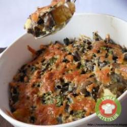 Gegratineerde aardappelen met champignons