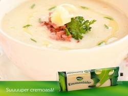 Bloemkool soup met Emmentaler