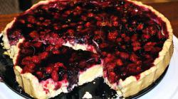 Snelle taart met bessen